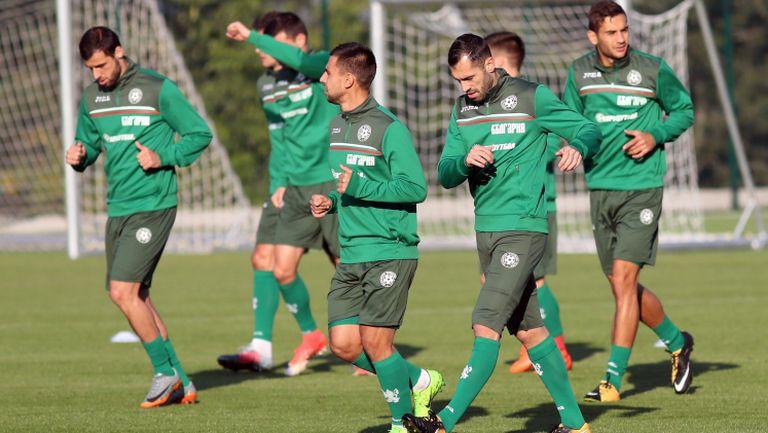 Тренировка на националния отбор преди домакинството на Франция