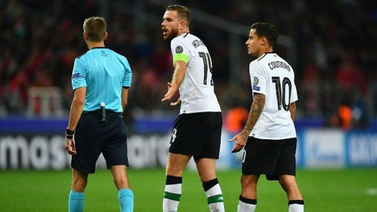 Капитанът на Ливърпул: Нямахме шанс, трябваше да победим с 4:0