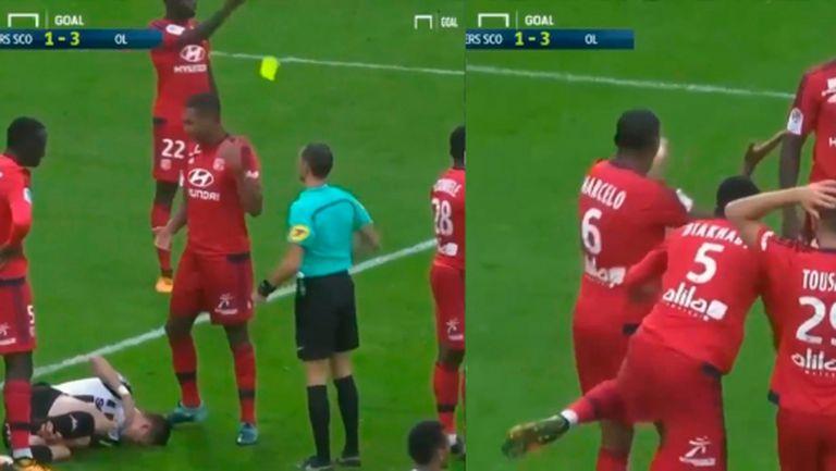 Бразилец от Лион получи абсурден червен картон (видео)