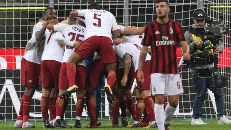 Милан няма победния дух, Рома има СуперДжеко и широка пейка
