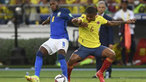 Колумбия спря победния ход на Бразилия