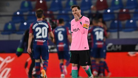 Леванте удари по шампионските амбиции на Барселона (видео + галерия)