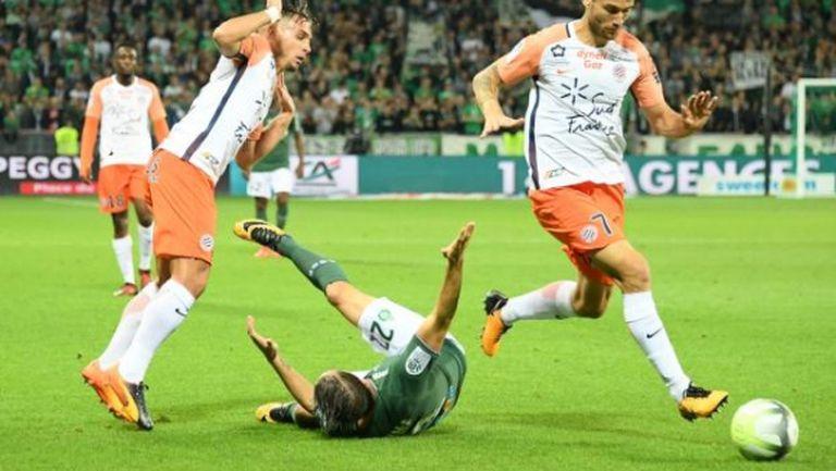 Монпелие нанесе първа домакинска загуба на Сент Етиен
