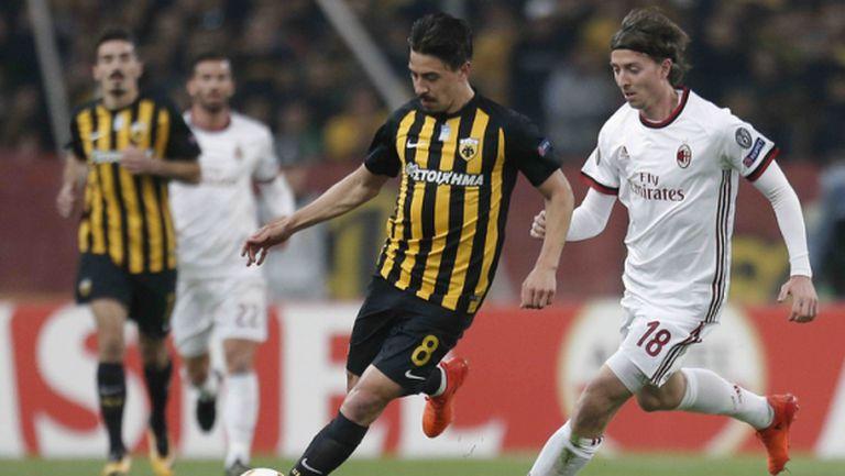Милан отново не успя да вкара на АЕК