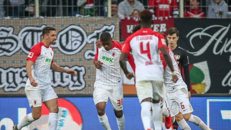 "Младок ""изработи"" и двата гола за 1:1 между Аусгбург и Леверкузен (видео)"