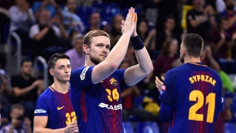 Исландска звезда дебютира за Барселона при нов успех в Шампионската лига (видео)