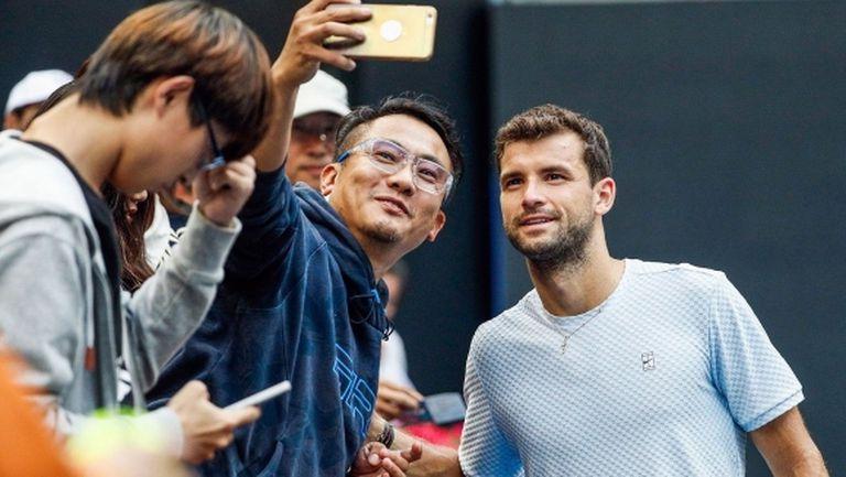 Григор Димитров 16-и по популярност в света на тениса