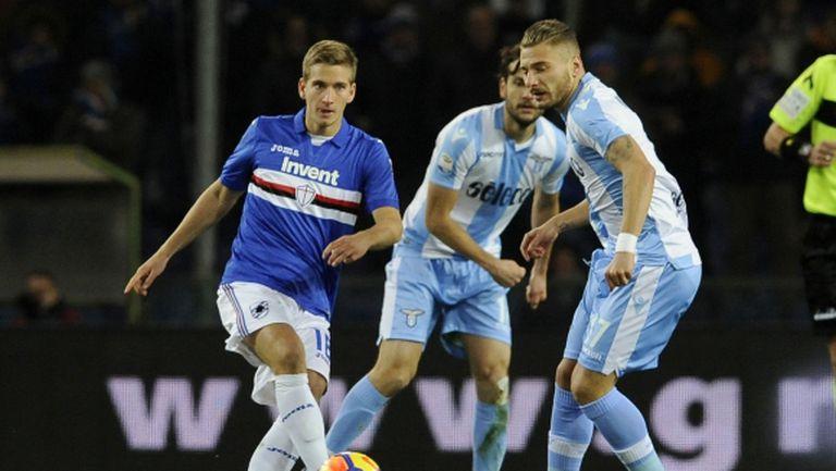 Лацио с късен обрат срещу Сампдория (видео)