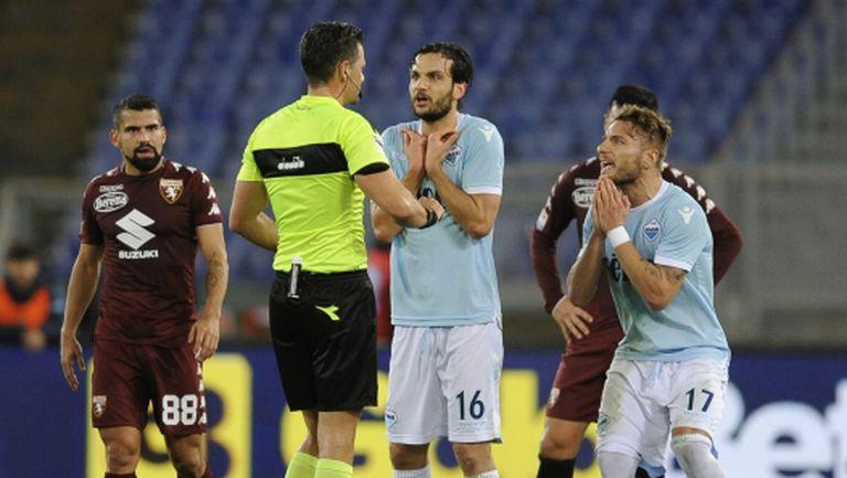 Извадиха от нарядите рефера от мача на Лацио