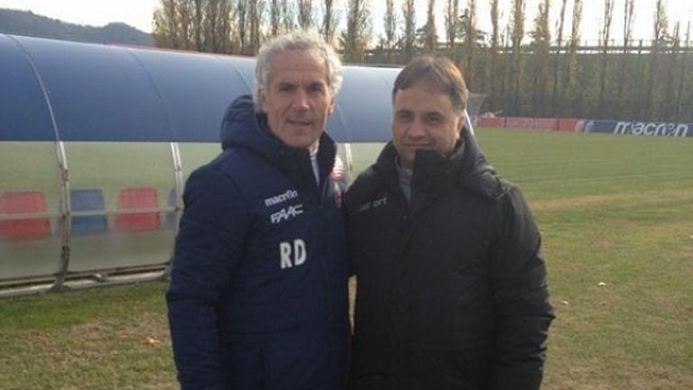Ники Митов на стаж при легенда на Милан