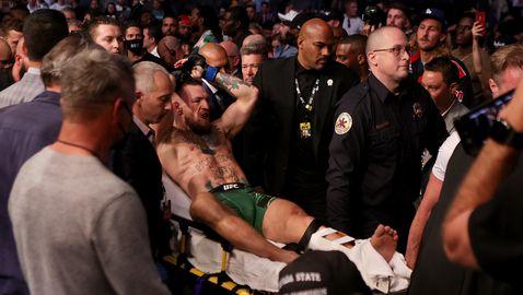 Конър Макгрегър счупи крак срещу Дъстин Порие😪