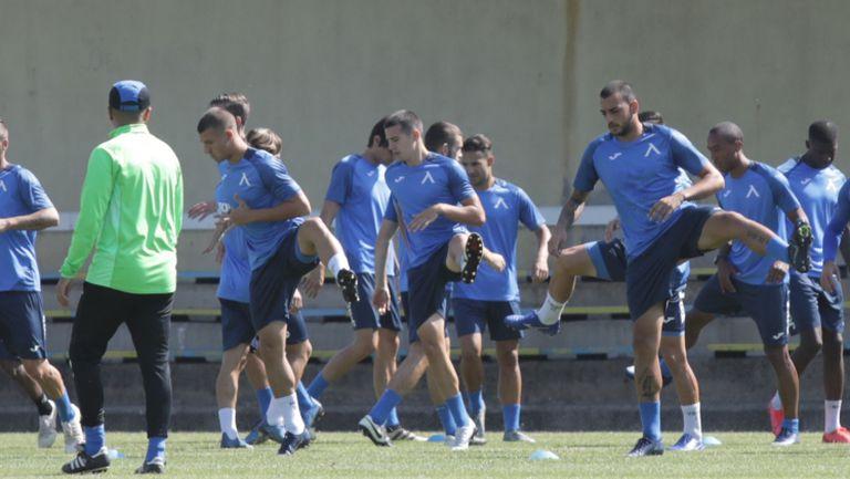 Тренировка на Левски преди срещата с Арда