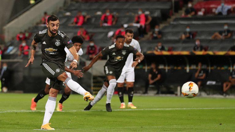Бруно Фернандеш откри за Ман Юнайтед срещу Севиля от дузпа