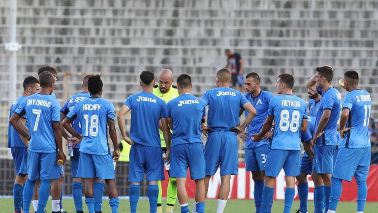 Ники Михайлов събра отбора на Левски след загубата от Царско село