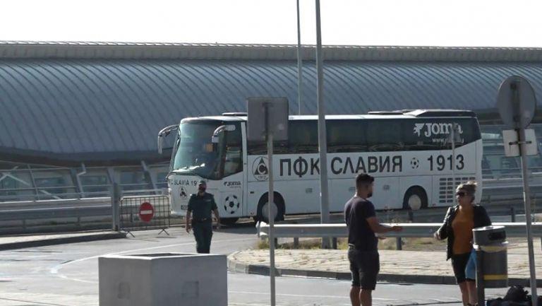 Отборът на Славия замина за Албания