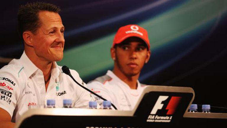 Шумахер никога не се е състезавал в толкова доминиращ отбор като Хамилтън