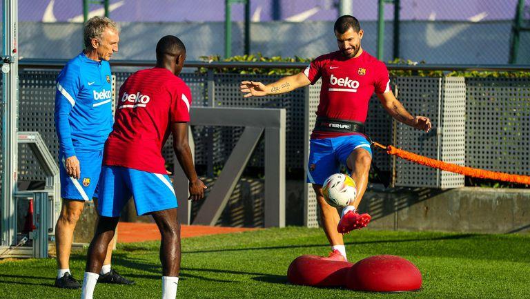 Дембеле и Агуеро започнаха тренировки