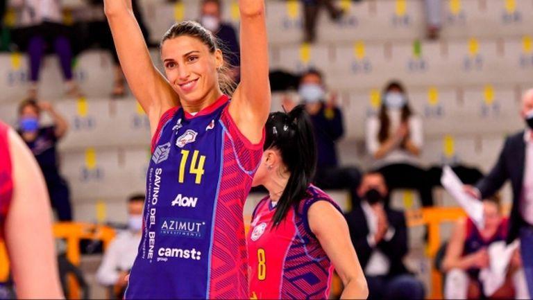 Силна Елица Василева със 17 точки, Скандичи завърши със загуба редовния сезон в Италия