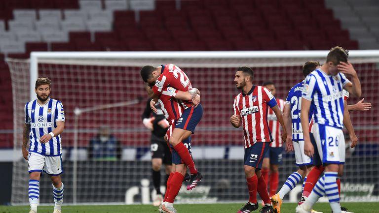 Атлетико направи първата от последните три крачки (видео)