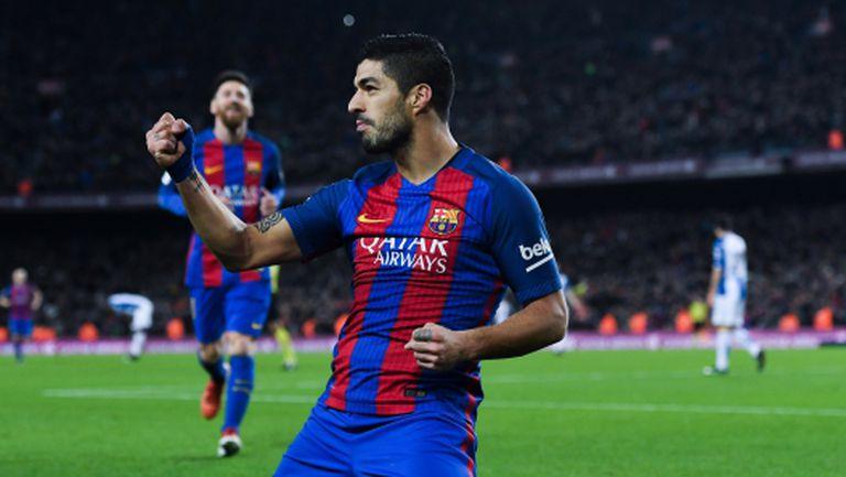 Луис Суарес гони стотен гол за Барса