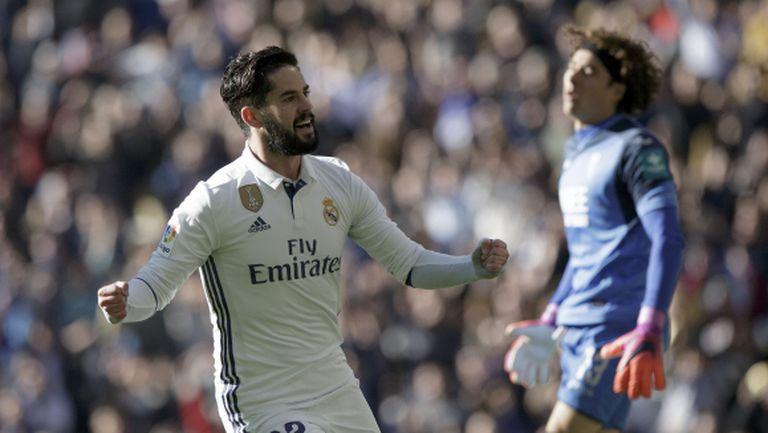 """Реал Мадрид вилня обедно на """"Бернабеу"""" и застигна рекорд на Барса (видео + галерия)"""