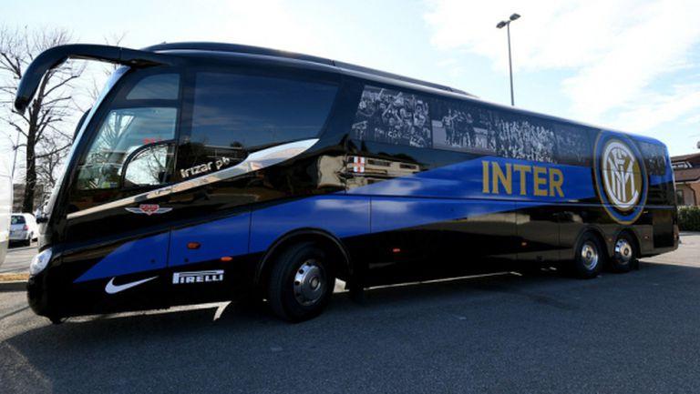 "Гранде Интер грейна на новия автобус на на ""нерадзурите"" (снимки)"