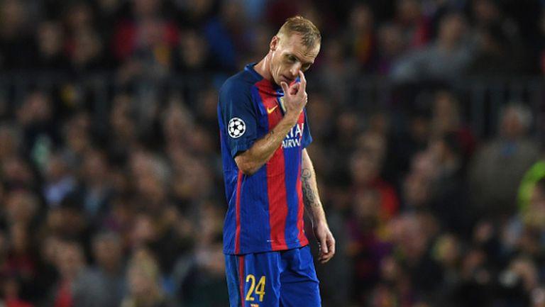 Жереми Матийо мисли за раздяла с Барселона