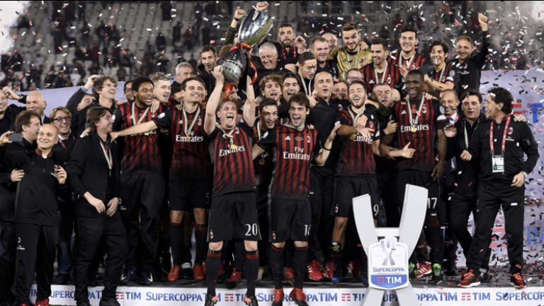 Милан вдигна Суперкупата на Италия