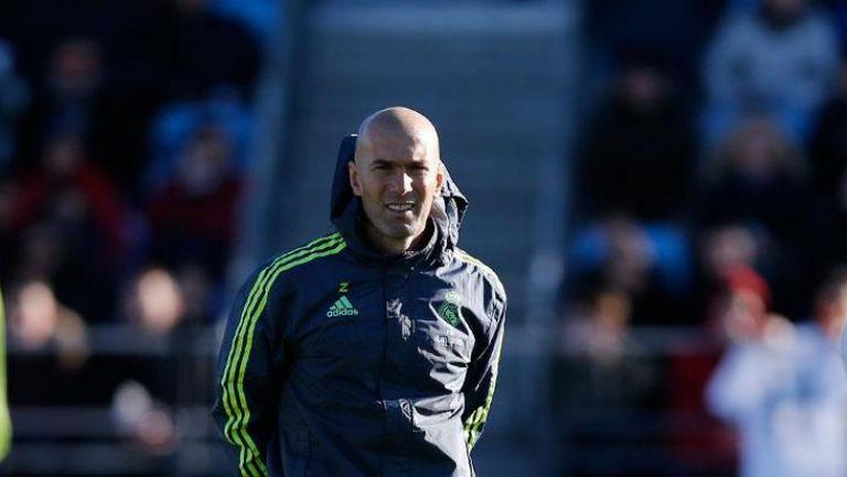 Първата тренировка на Зидан начело на Реал