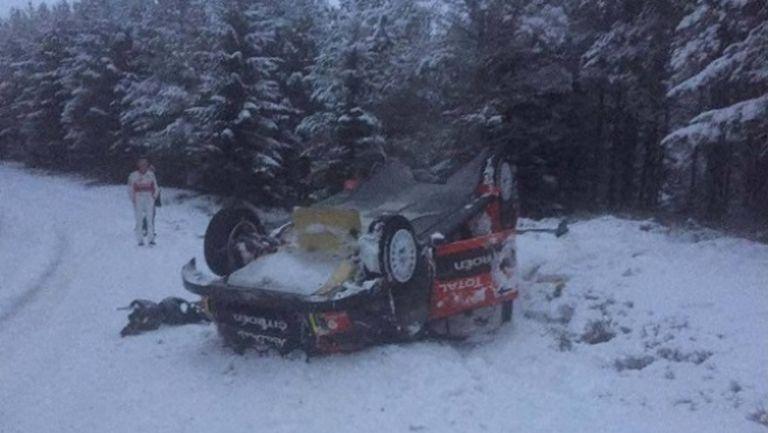 Мийк катастрофира по време на тестовете за рали Швеция