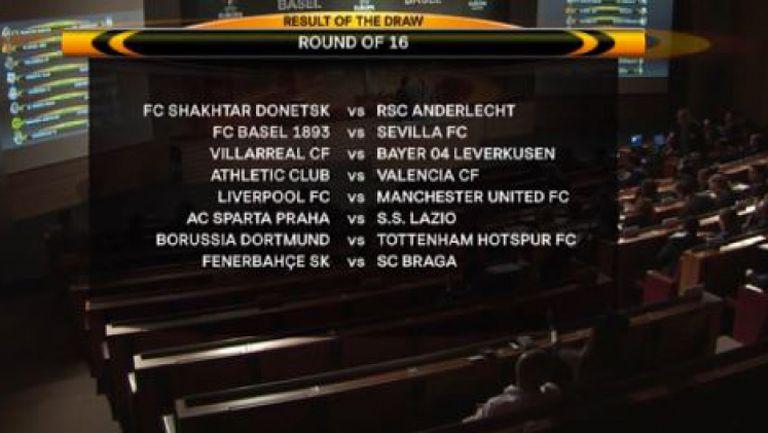 Ливърпул - Манчестър Юнайтед на 1/8-финалите в Лига Европа