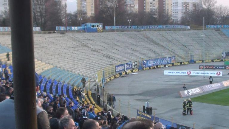 """Без фенове в сектор """"Б"""" на мача Левски - Монтана"""