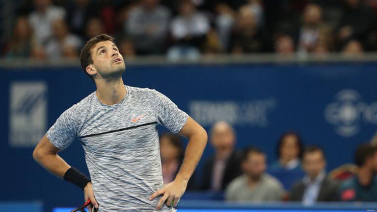 Григор Димитров със сериозно предимство на 1/2-финала