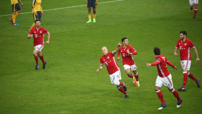 Петзвезден Байерн взриви Арсенал в Мюнхен (видео)