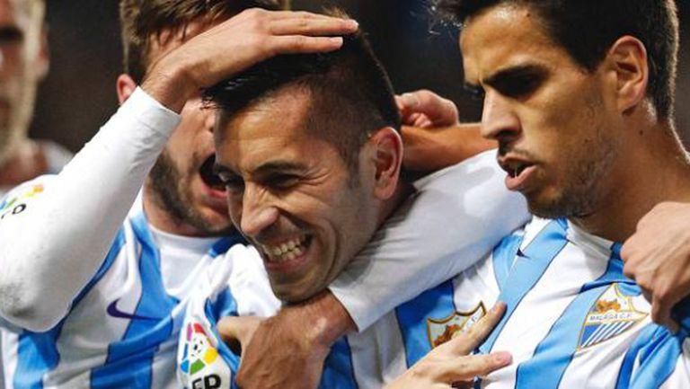 Малага с първа победа от 26 ноември насам