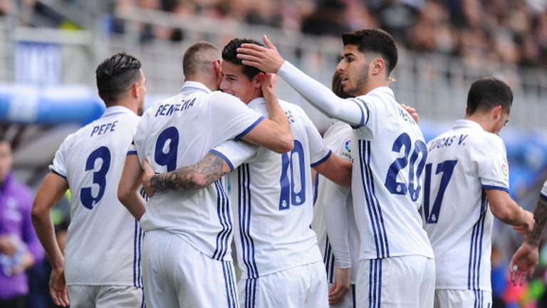 Реал Мадрид с шумна победа без Кристиано и Бейл (видео + галерия)