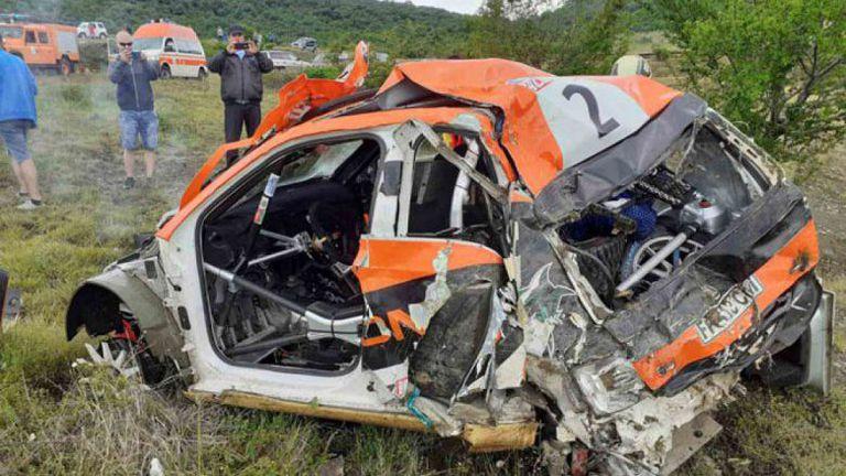 Тежка катастрофа спря Рали Сливен в първата отсечка за втория ден