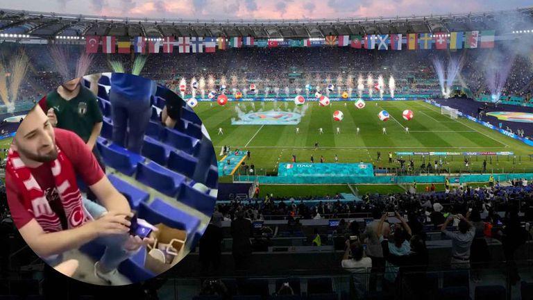"""Евро 2020 започна с предложение за брак на """"Олимпико"""" (видео)😍"""