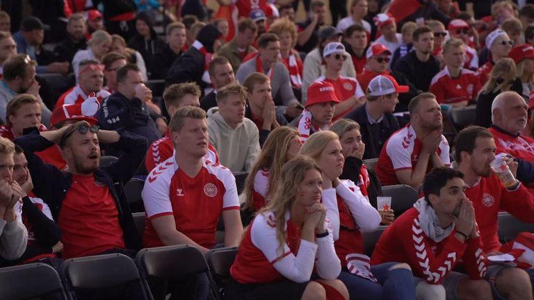 Шок сред датските фенове  след инцидента с Ериксен