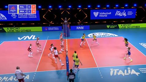 Лига на нациите (жени): Полша - Бразилия 0:3