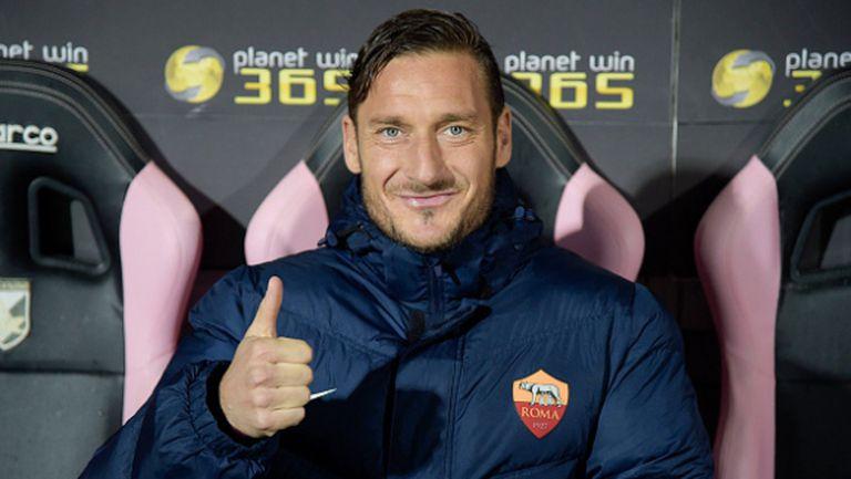 Тоти отказа да влезе в игра за Рома