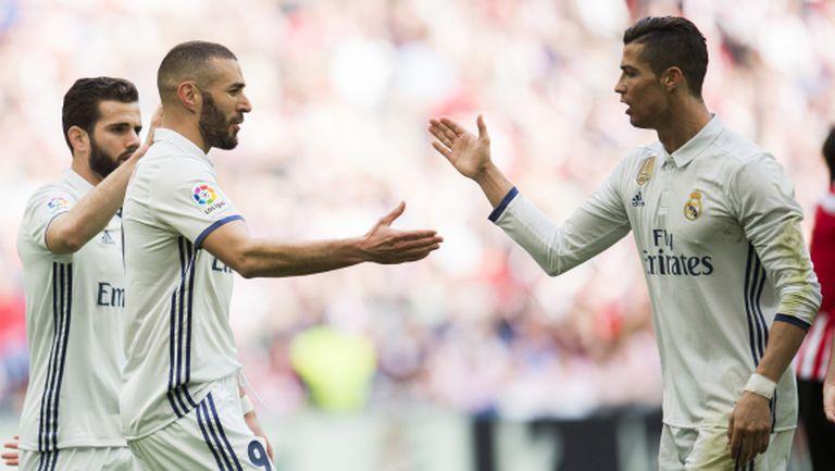 Реал Мадрид измъкна най-трудното си гостуване до края (видео + галерия)
