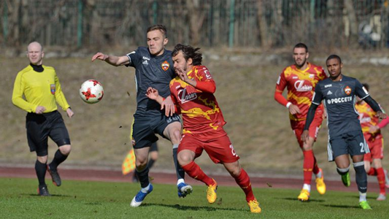 Иван Иванов и Мишо Александров играха по едно полувреме срещу ЦСКА (Москва)
