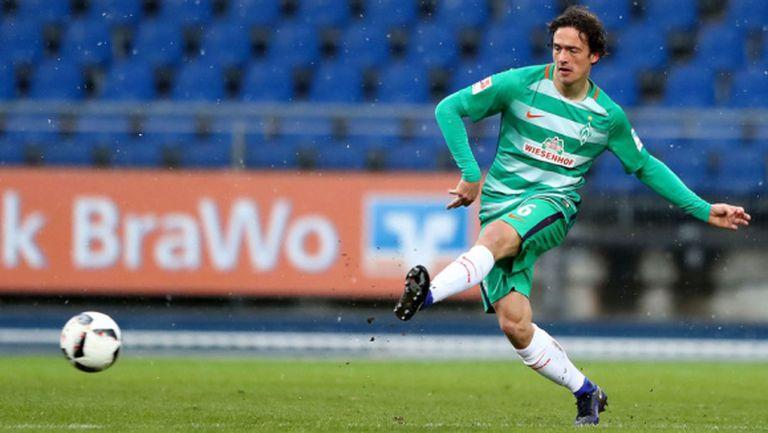 Вердер (Бремен) загуби национал на Дания до края на сезона
