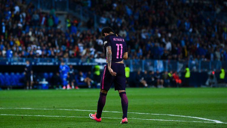 Барселона изпуска титлата след безидейна игра и глупост на Неймар (видео + галерия)