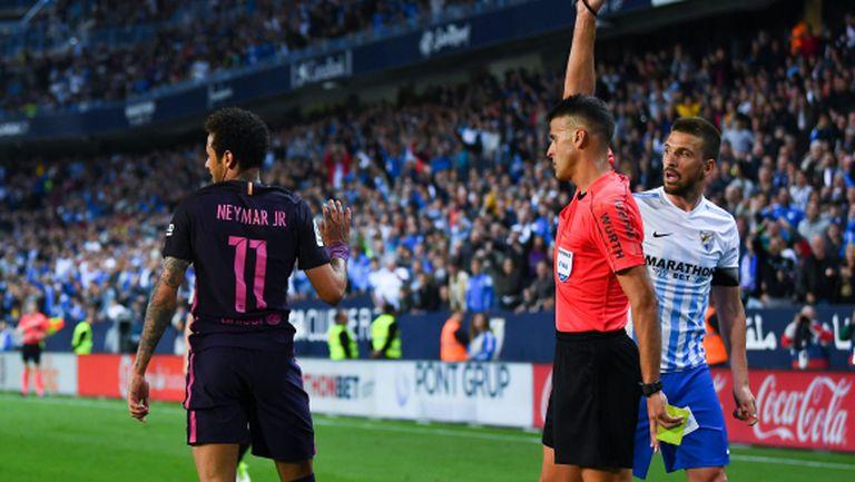 Ощети ли съдията Барселона срещу Малага? (видео)