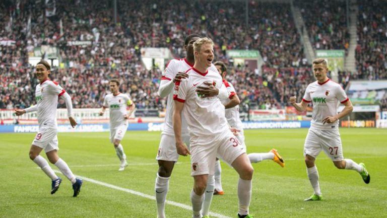 Аугсбург с ценна победа над Кьолн (видео)