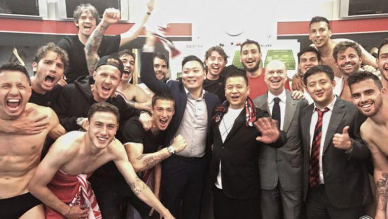 Новите шефове на Милан празнуват равенството с Интер
