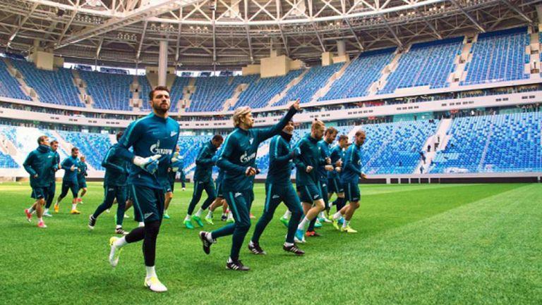 Зенит направи първа тренировка на новия си стадион