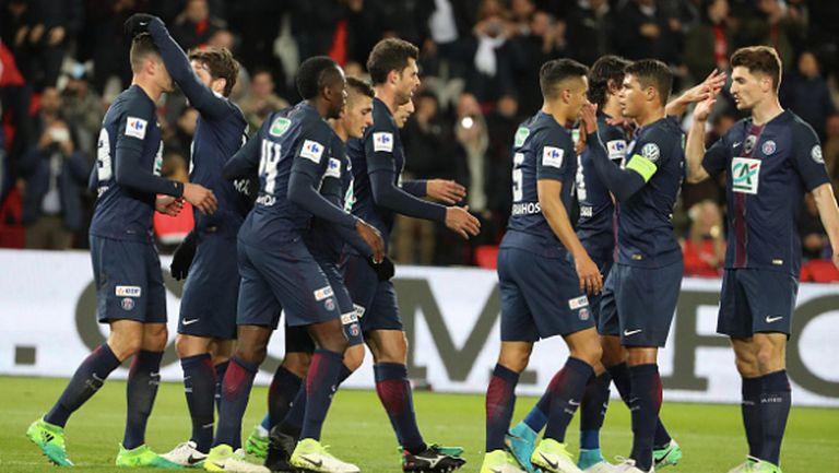 5:0! ПСЖ не пожали странния състав на Монако (видео)